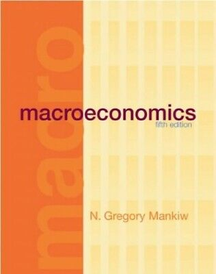 £5.49 • Buy Macroeconomics By Mankiw, N. Gregory Hardback Book The Cheap Fast Free Post