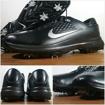 8c295b0681e4 New Nike Air Zoom Tiger Woods TW71 Golf Shoes Black Silver AA1990-002 Men s
