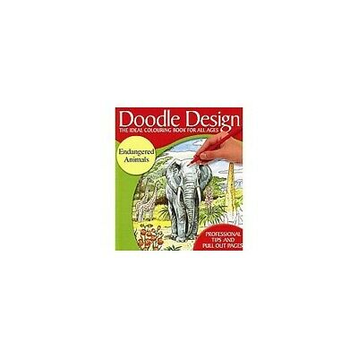 £17.99 • Buy Doodle Design - The Ideal Colouring Book For All Ages - Endangered Animals  Book