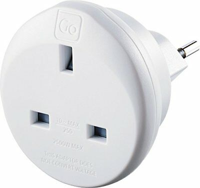 £11.82 • Buy Go Travel UK To Swiss Earthed Compact Travel Adaptor Adapter Ref 534