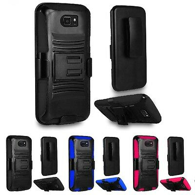 $ CDN9.19 • Buy For Samsung Galaxy S7 Active Hybrid Armor Belt Clip Holster Stand Case Cover