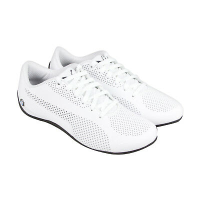 0200d0a0cb9e Puma Bmw Ms Drift Cat 5 Ultra Mens White Leather Lace Up Sneakers Shoes •  54.99