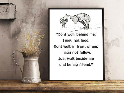 £3.79 • Buy  Inspirational Motivational Winnie The Pooh Dont Walk Quote A4 Poster Print