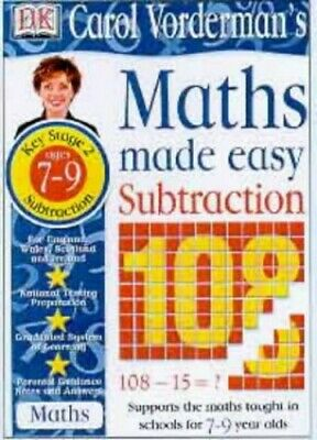 £5.49 • Buy Maths Made Easy Topic Book: Subtraction KS2 Low... By Vorderman, Carol Paperback