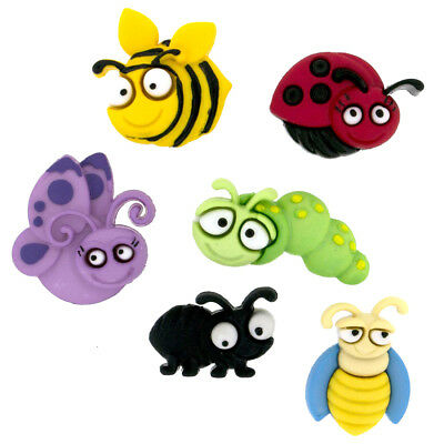 £3.99 • Buy Childrens Buttons - Bugs - Bug Eyed - Novelty Buttons Cake Decorations