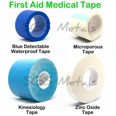 Blue Detectable Zinc Oxide Microporous Sports MEDICAL TAPE Strapping First Aid  • 3.58£