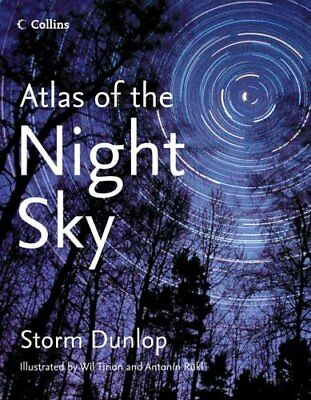 Collins Atlas Of The Night Sky By Rukl, Antonin Hardback Book The Cheap Fast • 10.99£