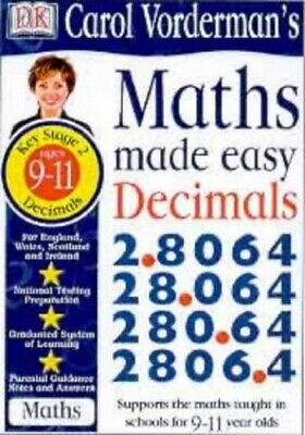 Maths Made Easy Topic Book: Decimals KS2 Upper:... By Vorderman, Carol Paperback • 8.99£