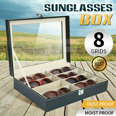AU22.46 • Buy VIVVA 8 Grids Sunglasses Eyeglasses Glasses Display Box Case Storage Organizer