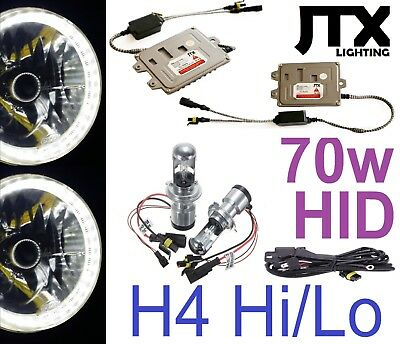 AU299.50 • Buy WHITE 7  JTX Halo Lights & 70w HID Kit Ford F150 F100 F250 F350 Bronco Pick Up