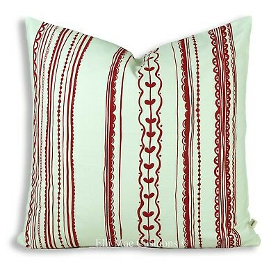 Ikea Vintner Striped Red White Decorative Cushion Cover Scatter Throw Pillow • 18.99£