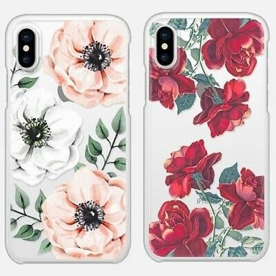 AU4.90 • Buy IPhone XS Max XR 8 7 6S Plus Case Flower Print Clear Soft Bumper Cover For Apple
