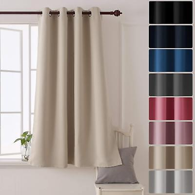 £13.46 • Buy Front Door Blackout Curtain Thermal Insulated Lining Hallway Back Draft Excluder