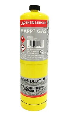£16.39 • Buy Rothenberger 3.5536 MAPP MAP Pro Gas Cylinder For SuperFire Torch