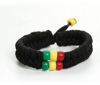 $4 • Buy Rasta Bead Shoelace Bracelet