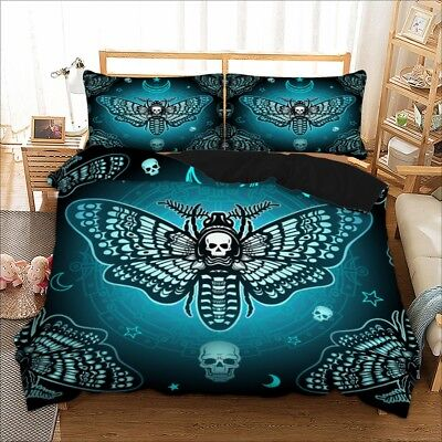 Skull Insect Duvet Cover Bedding Set Pillow Cases Quilt Cover All Sizes Bed Set • 26.59£