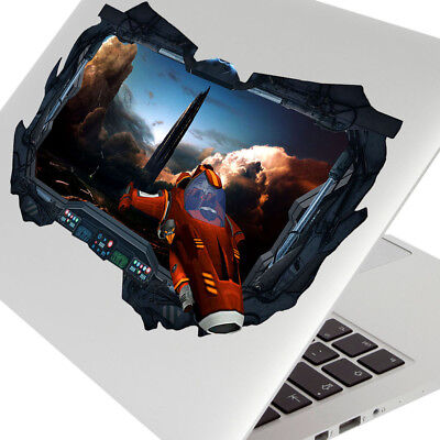 Wall Stickers Space Ship City World Fantasy Bedroom Girls Boys Laptop Room D968 • 7.99£