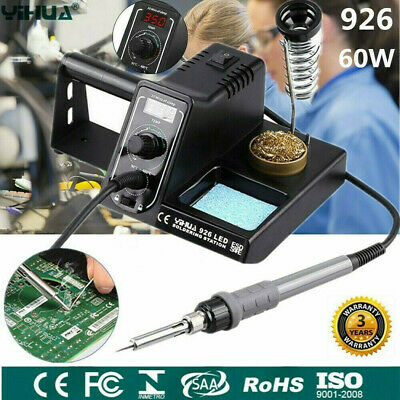 Digital 60W LED Soldering Iron Station Rework Welding Tool Variable Temperature • 23.99£