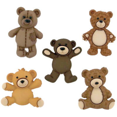 £3.99 • Buy Childrens Buttons - Teddy Bear - Novelty Buttons Cake Decorations Craft Sewing