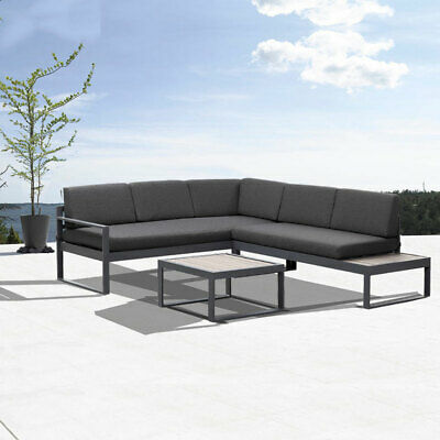 AU849.99 • Buy New Charcoal Aluminium Outdoor Garden Sofa Lounge Furniture Setting Table Chairs