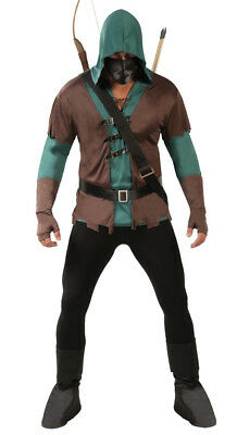 £18.89 • Buy  Robin Hood Costume Mens Adult Fancy Dress Medieval Prince Of Thieves Outfit