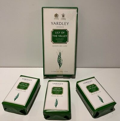 Yardley Lily Of The Valley Soap X3 100g • 8.99£