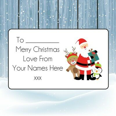 £1.99 • Buy Santa Group Christmas Personalised Gift Wrap Tags Present Stickers Labels Xmas