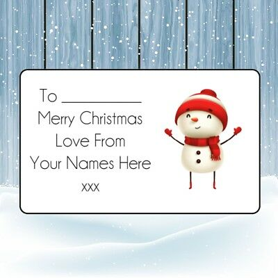 £1.99 • Buy Snowman Christmas Personalised Gift Tags Present Stickers Labels Wrapping Xmas