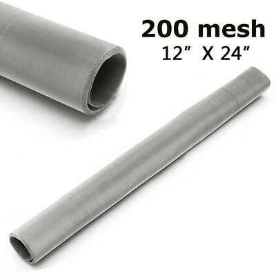 £6.50 • Buy 200 Mesh 75 Micron 304 Stainless Steel Fine Pollen Dry Ice Screen 12x24  Silver