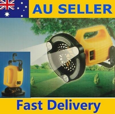 AU19.95 • Buy NEW 2in1 21 LED CAMPING TENT LIGHT LANTERN LAMP With CEILING FAN N HANING HOOK