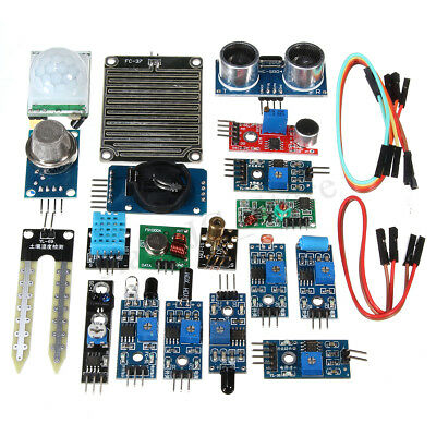 AU20.08 • Buy 16PCS Module Board Starter Kit For Raspberry Pi3 Zero W Sensor Ultrasonic