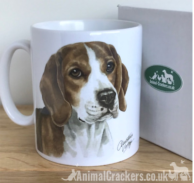 Beagle Waggy Dogz Design Mug Quality Medium Weight, Beagle Lover Gift, Boxed • 9.75£