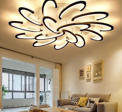 £454.52 • Buy LED Chandelier For Living Room Acrylic Modern Lamp Indoor Home Fixture Decor New