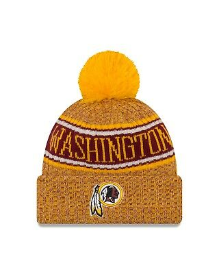 10c1d89d75e2a1 Washington Redskins New Era 2018 Reverse Sport Knit Sideline Knit Hat- Red  • 27.99$