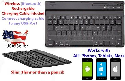 Wireless Bluetooth Keyboard Slim For Macs, Android, Apple, Iphone X, Tablets • 40.75£