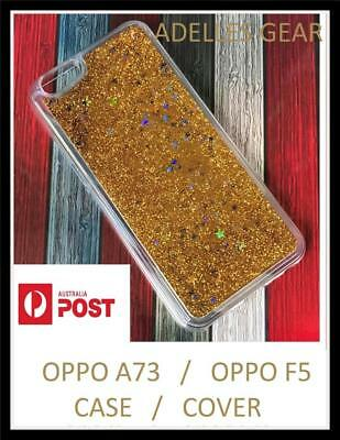 AU5.45 • Buy For OPPO A73 AND OPPO F5 Liquid Sparkle Glitter Bling Case Cover - GOLD BLING
