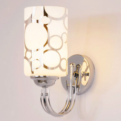 Easy Install Wall Lamp With Glass Lampshade For Bedside, Hallway • 14.23£