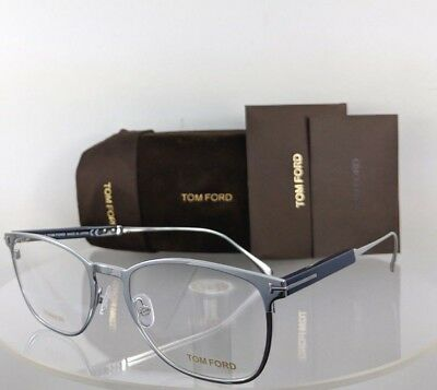 ec4f690bc11fd Brand New Authentic Tom Ford Eyeglasses FT TF 5483 018 52mm Silver   Navy  Frame •