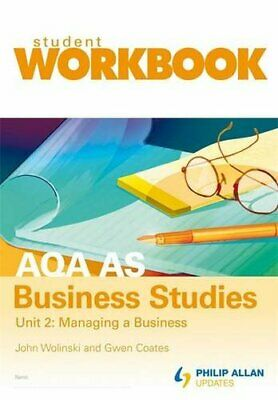 AQA AS Business Studies Unit 2: Managing A Business... By Coates, Gwen Paperback • 4.49£