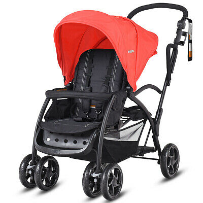 AU179.99 • Buy 2In1 Stand&Ride Folding Tandem Double Stroller Baby Pram Twin Toddler Travel