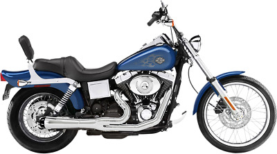 AU975.74 • Buy Bassani Chrome Road Rage 2-1 Short Exhaust System For 91-05 Harley Dyna FXD FXDB