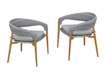 AU243.99 • Buy 2PCS Outdoor Furniture Wicker Chair Rattan Bistro Garden Patio Setting Cushioned