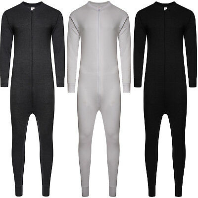£7.95 • Buy Mens All In One Underwear Thermal Jumpsuit Set Union Zip Suit Baselayer New Size