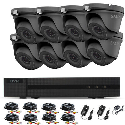 £62.24 • Buy 5MP CCTV Camera System HD IP66 Night Vision Outdoor DVR Home Security System Kit