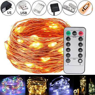$5.99 • Buy LED Copper Wire Strip Firework String Fairy Light Wedding Xmas Party Home Decor