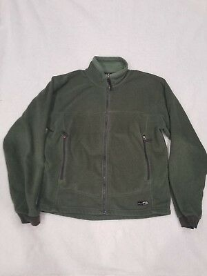 REI Men's Green Polartec Full Zip Fleece Jacket Size Medium Thermal Pro  • 18$