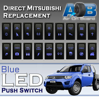 AU26 • Buy 12V Blue LED Push Switch For Mitsubishi Triton Pajero Eclipse Gallant Light Up