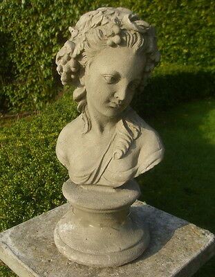 Large Garden Bust Statue Figure Roman/Greek Woman Antique Country Style • 36.18£