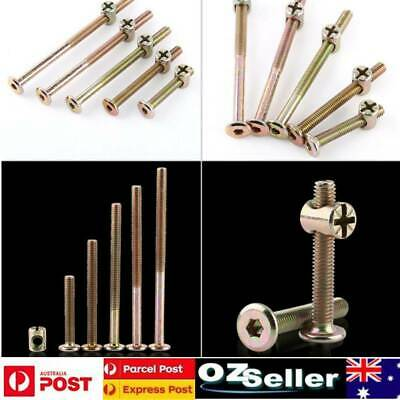 AU23.28 • Buy 100Pcs M6 Hex Socket Head Cap Screws Furniture Bolts Fastener With Barrel Nuts