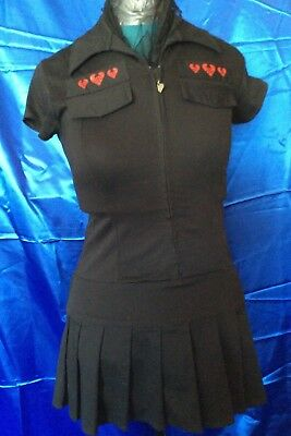 AU55 • Buy BEZERK Brand Clothing Label Melbourne Made Tunic Dress In Black With Front Zip.